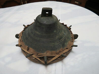 18th Century Ottoman Hawking Falconry Drum NAKARE Bronze & Original Hide/Leather