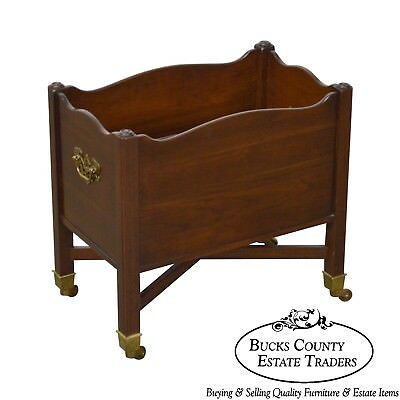 Ethan Allen Georgian Court Collection Solid Cherry Magazine Stand