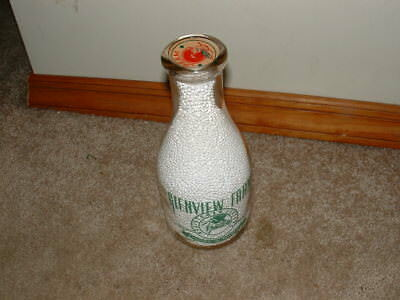 GLENVIEW FARM Dairy Milk Bottle REGISTERED JERSEY COWS, TUSCOMBIA, ALABAMA