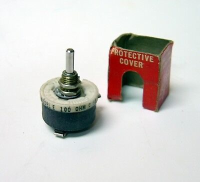 NEW Ohmite E 0112 100 Ohm .35 Amp Rheostat POTENTIOMETER Wirewound MADE IN USA