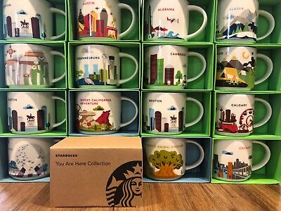 Starbucks YOU ARE HERE - YAH Series 14 oz Coffee Mug, New With Box / SKU