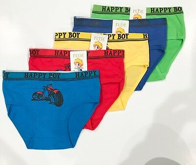 New 5 Kids Boys Cotton Brief Knickers Boyshort Underwear 4-10T (C328)