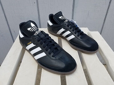 416cd3e47c7 Adidas Samba OG Shoes Leather Black White Vintage Classic Trefoil Men 8.5 -  New!