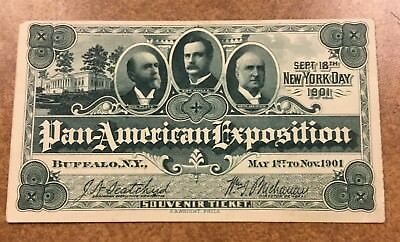 {BJ STAMPS} 1901 Pan American Exposition NY DAY ticket Buffalo World's Fair