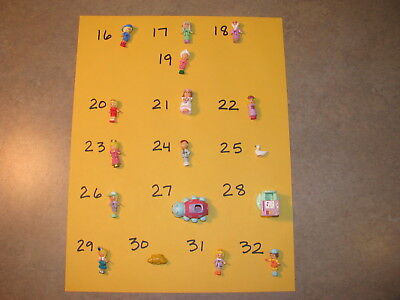 PICK ONE ~ VINTAGE 1991 to 1992 POLLY POCKET BLUEBIRD DOLL FIGURES bride prince