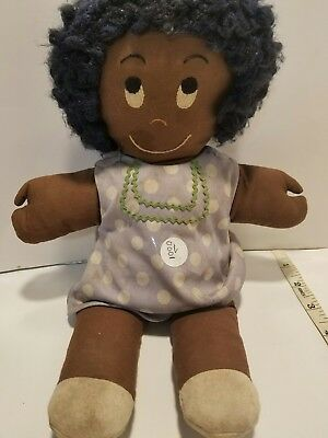 Vintage African black American Hand sewn cloth doll with claw hands.