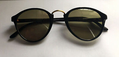 Vintage Cutler and Gross of London Black Sunglasses Model 0166 47-24