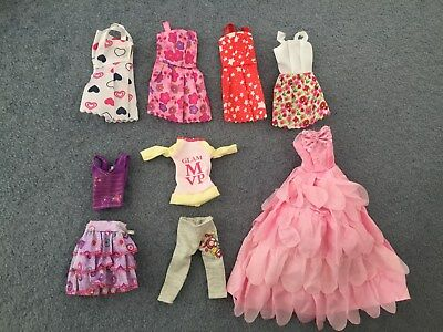 New Barbie doll outfits/ clothes/ dress 9pcs /lot  girls doll clothes