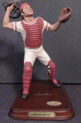 Danbury Mint Johnny Bench Baseball Legends Figurines  COA/Serial #D2389