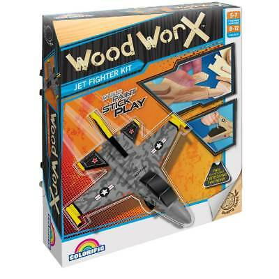 NEW Wood Worx Jet Fighter By Spotlight