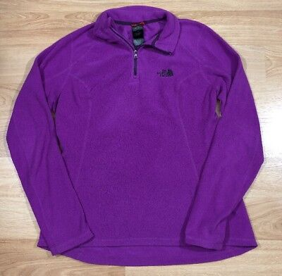 25be124a8 THE NORTH FACE Pullover Fleece Womens Size Medium Purple
