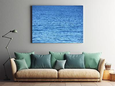 Framed Canvas Stretched Print Wave Water Sea Water Surface Blue