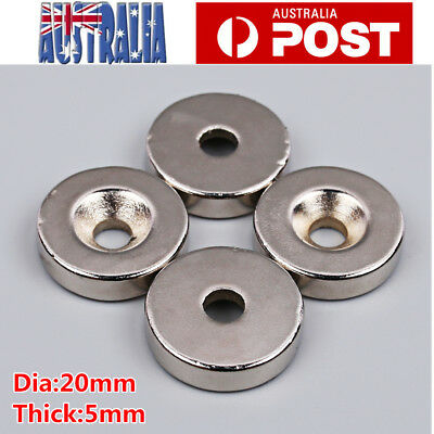 10pcs Neodymium Magnets Rare Earth Disk Round Ring Super Strong Strengths 20*5mm