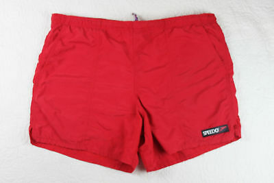 c027e02df0 Vintage 90s SPEEDO Men's Spell Out Outdoor Swimming Swim Trunks Shorts Red  m6