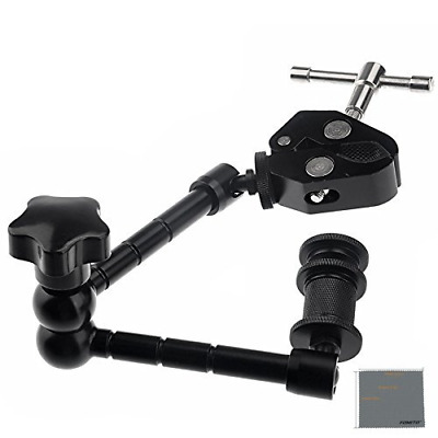 "Fomito 11"" Inch Articulating Magic Arm + Super Clamp for Camera, LCD Monitor , L"