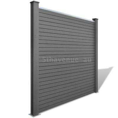 Garden Fence Panel WPC Grey A5F9