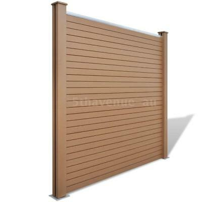 Garden Fence Panel WPC Brown Q3H8