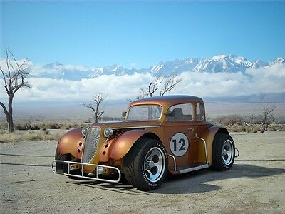 "Hot Rod - Custom Roadsters Classic Muscle Cars Fabric Poster 32""x24"" 016"
