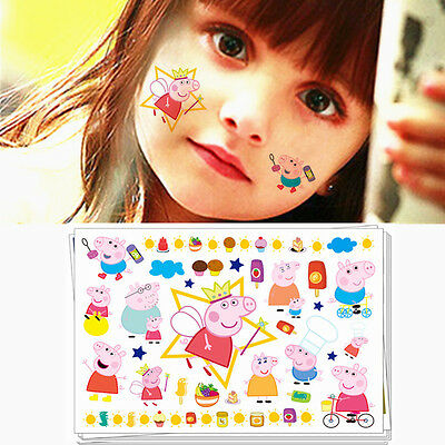 Peppa Pig Fake Tattoo Sticker Water Transfer Temporary Body Art Toys Stickers