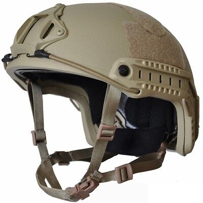 High Cut (Special Forces) TAN  LVL IIIA Ballistic KEVLAR Helmet -