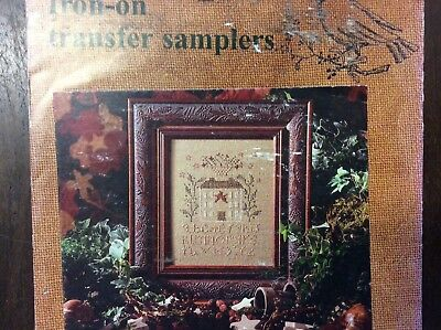"EMBROIDERY TRANSFER "" FRIENDSHIP HOUSE SAMPLER"" by BLACKBIRD DESIGNS"