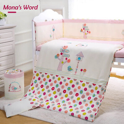 7pcs Baby Crib Bedding set Bumpers Quilt Pillow Cot Sheet-Mona's Word