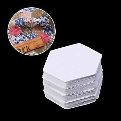 DIY 100Pcs Hexagon Templates for Patchwork Paper Quilting Sewing Craft Six Sizes