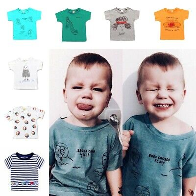 Boys Tractor T-Shirt Age 18 24 Mths 2 3 4 5 6 Yrs Kids Navy Stripey Top Clothes
