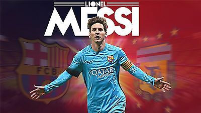 "Lionel Messi - Barcelona Football Soccer Top Player 42"" x 24""  Poster 030"