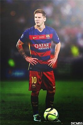 "Lionel Messi - Barcelona Football Soccer Top Player 36"" x 24""  Poster 064"
