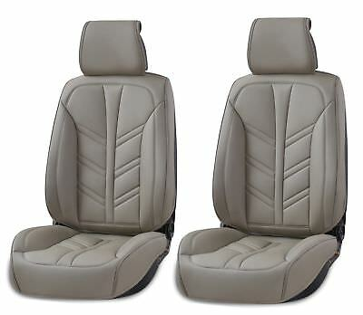 Deluxe Grey PU Leather Front Seat Covers Cushion For Porsche Panamera Cayenne