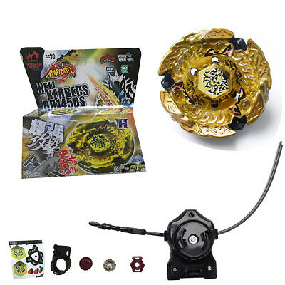 Hell Kerbecs Fusion Metal Master Rapidity 4D Beyblade BB99 + Power Launcher NI