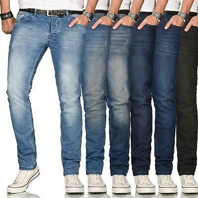 A. Salvarini Designer Herren Jeans Hose Regular Slim Fit Style Jeanshose Stretch