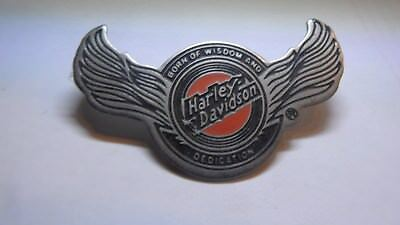 alter  MOTOR HARLEY DAVIDSON CYCLES PIN BADGE, BIKE, 45 x 25 mm, METALL, RAR !