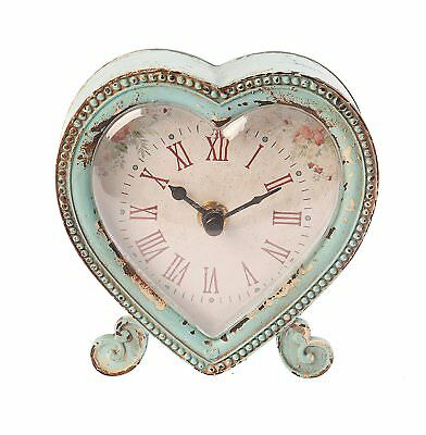 Distressed Vintage Shabby Cottage French Chic Clock Home Decorative Timepiece