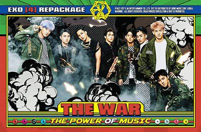 EXO [THE WAR : THE POWER OF MUSIC] 4th Repackage Album FOLDED POSTER ONLY