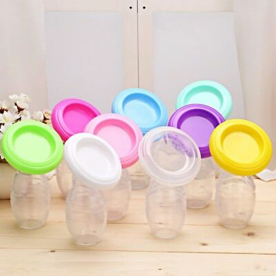 Silicone Breastfeeding Manual Breast Pump Milk Saver Suction Leakproof Collector
