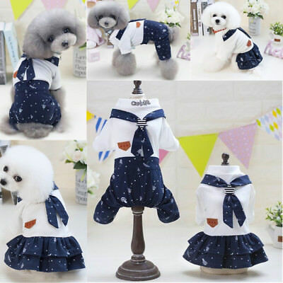 Couple Pet Puppy Dog Cat Summer Jumpsuit Clothes Winter Coat Apparel Costume