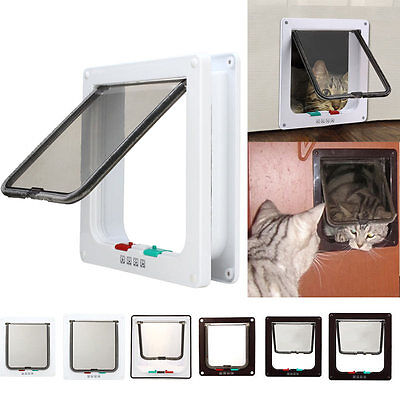 Dog Cat Flap Doors with 4 Way Lock for Pets Entry & Exit-2017 New Design