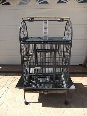 Bird Cage Parrot Aviary Pet Stand-alone Budgie Perch Castor Wheels Large 160CM