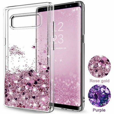 For Samsung Galaxy Note 9 S8 S9 + A9S Case Glitter Liquid Quicksand Clear Cover