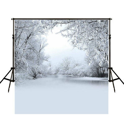 3*3M 10x10FT Winter Snow Ice World Forest Vinyl Studio Photography Background UK