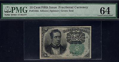 Fr 1264 10 Cent Fifth Issue Fractional Currency PMG 64 Choice Uncirculated