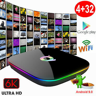 MX10 4+32G Smart TV BOX Android 9.0 Pie Quad Core HDR10 4K 3D Media Player WIFI
