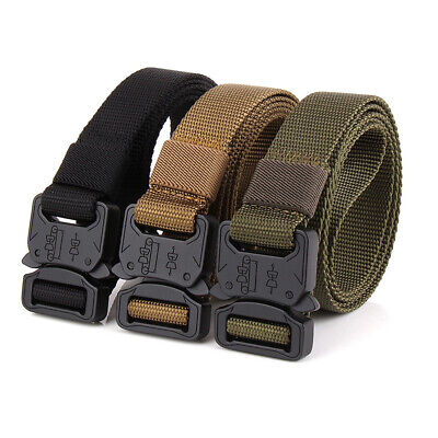 Hunting Combat Utility Rigger Belt Heavy Duty Molle Tactical Webbing Belt