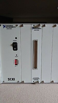 National instruments SCXI-1000  and.      SCXI 1102  Module. Used powers on