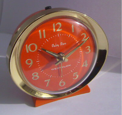 Vintage - Westclox - Baby Ben - Mechanical - Space Age - Alarm Clock - 1960's