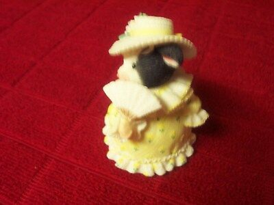 """Mary Moo """"Y'all Have A Special Place in My Heart"""" in yellow dress with fan & hat"""