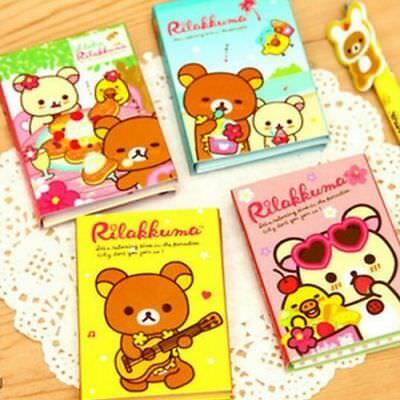 San-X Rilakkuma 4Fold Sticky Note Sticker Bookmarker Memo Pad Random color x1