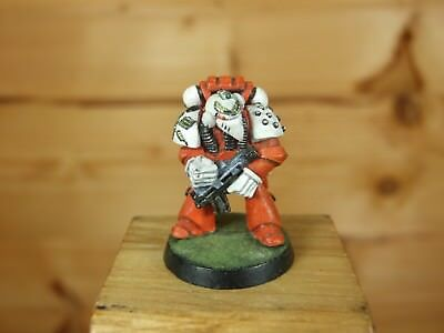 classic metal rogue trader era space marine medic with bolter